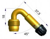 Латунный изогнутый жесткий удлинитель   42253-69