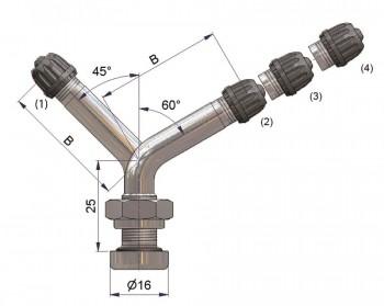 Вентиль латунный б/к  S-4295-2