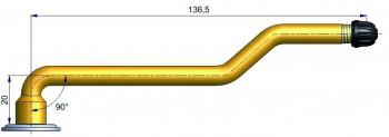 Вентиль  с тройным изгибом . R-0819-2